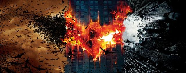 """שלושת סרטי באטמן של כריסטופר נולאן, """"באטמן מתחיל"""", """"האביר האפל"""" ו""""עלייתו של האביר האפל"""" ברצף, במסגרת אייקון TLV"""