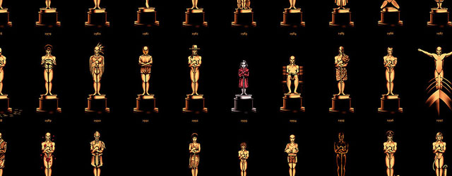 הפוסטר המצוין של האוסקר מעצב פסלון מיוחד לכל סרט, וזאת הזדמנות להתרשם מיתר היצירות של אולי מוס