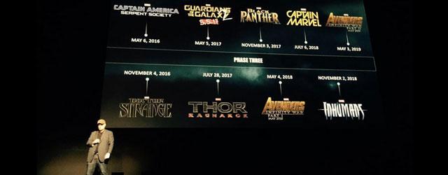 """מארוול הכריזו על כל הסרטים בעולם, כולל """"קפטן מארוול"""", """"הנוקמים 3"""" בשני חלקים, ועוד"""