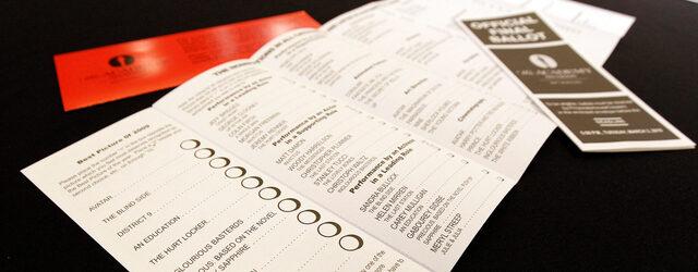 בואו לבחור את המועמדים המועדפים עליכם בטופס האוסקר שלנו.